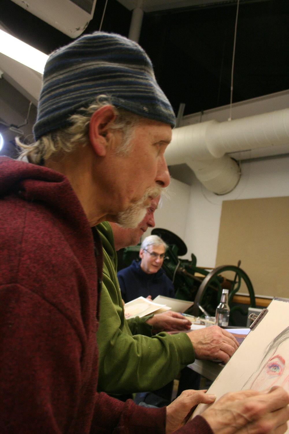 Larry Zuzik at work. Photo by Howard Collier.