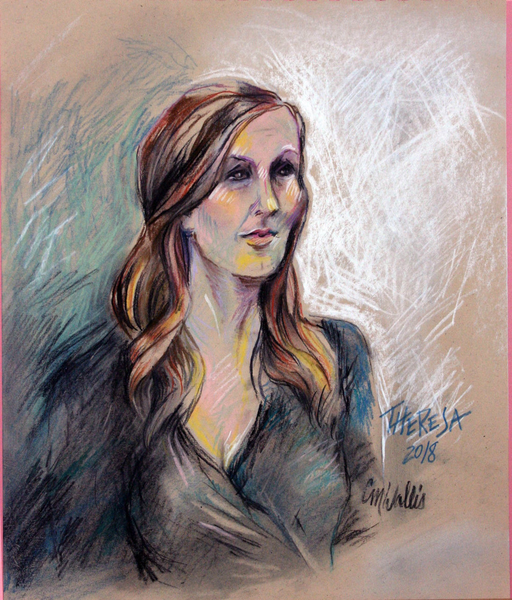Christine Wallis did this pastel drawing.
