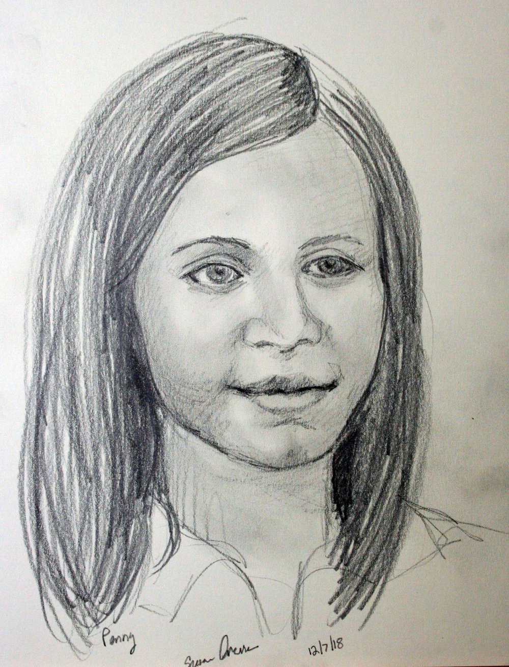 Susan Averre did this drawing of her granddaughter.
