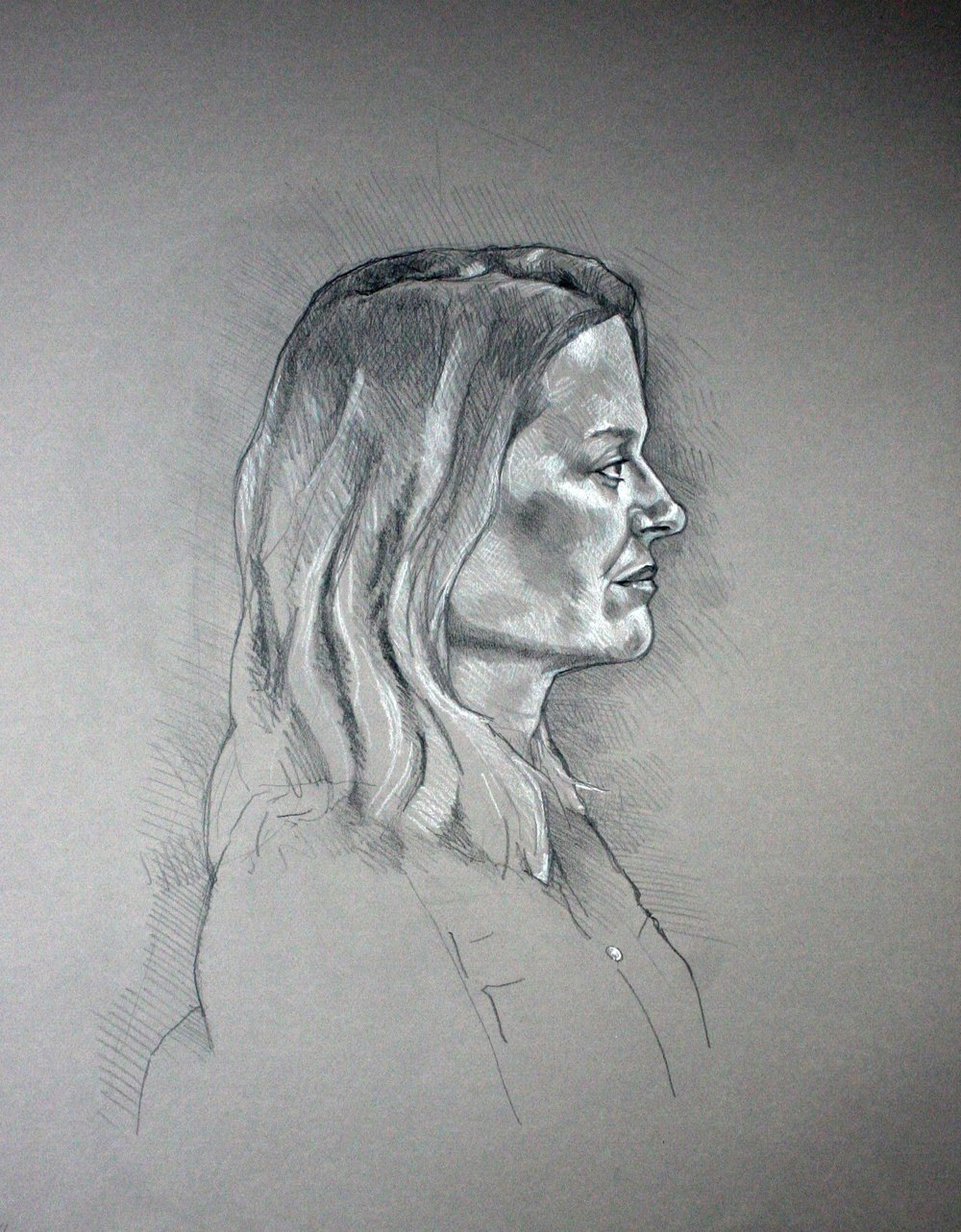 Darren Hamm did this drawing of his wife.