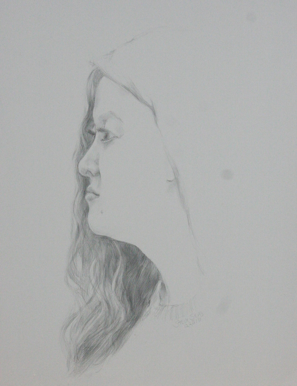 Steve Sens did this silverpoint.