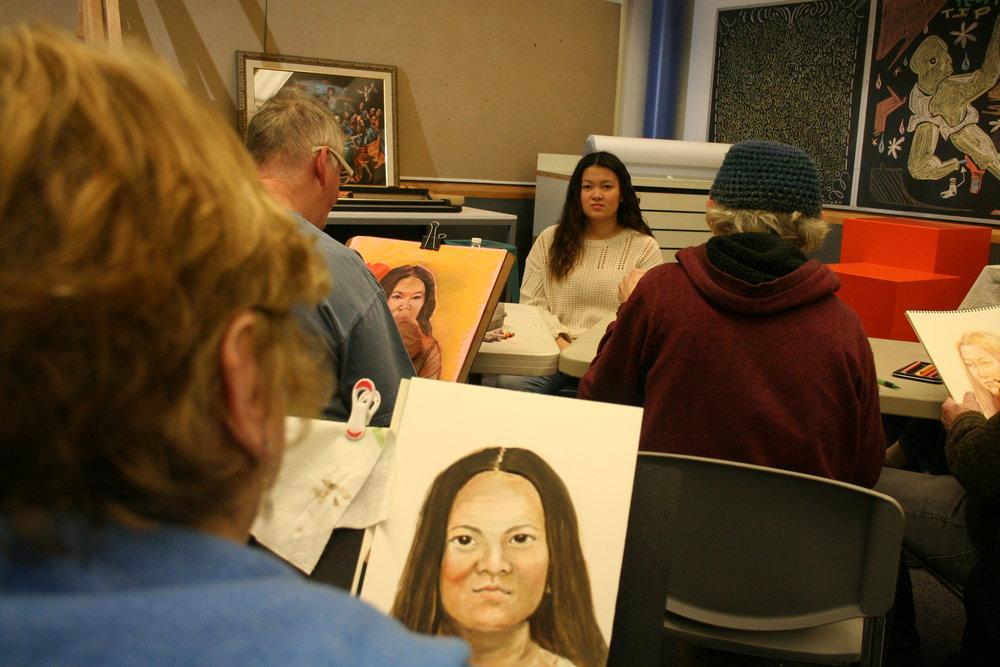 Susan Averre at work. Photo by Brian Pierce.