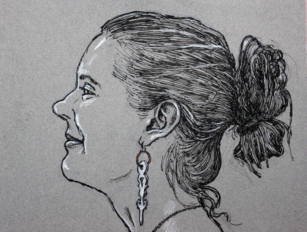 Jack Flotte did this ink drawing.