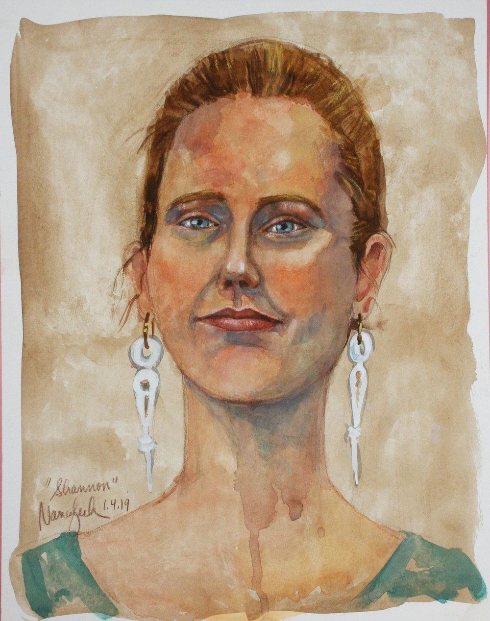 Nancy Lick did this mixed media drawing.