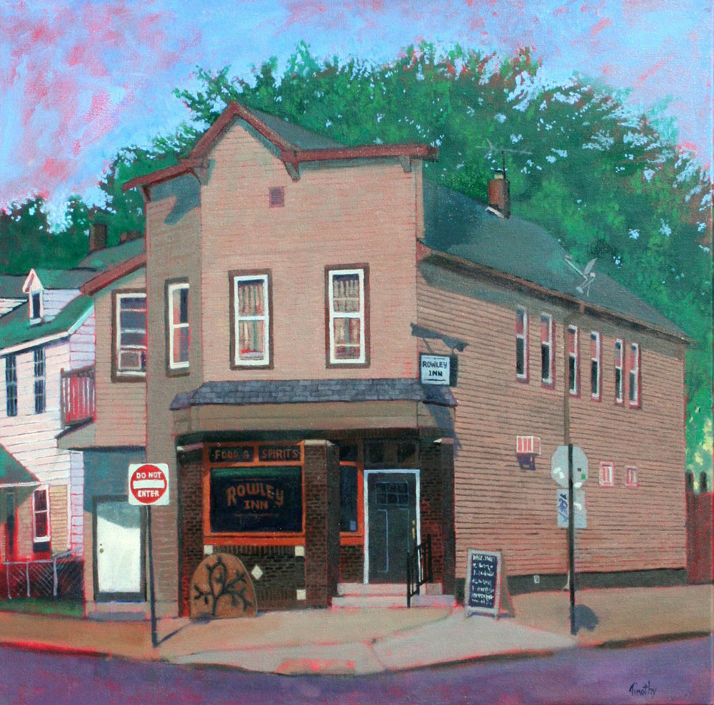 The Rowley Inn in Tremont area of Cleveland, Ohio. Painted from across the street.