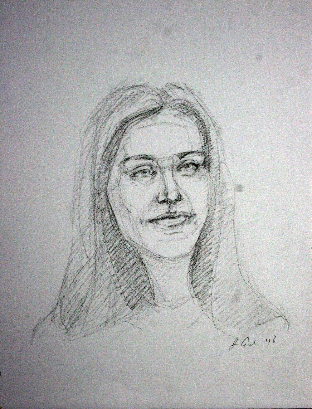 Jeff Erdie did this drawing of Tillie.