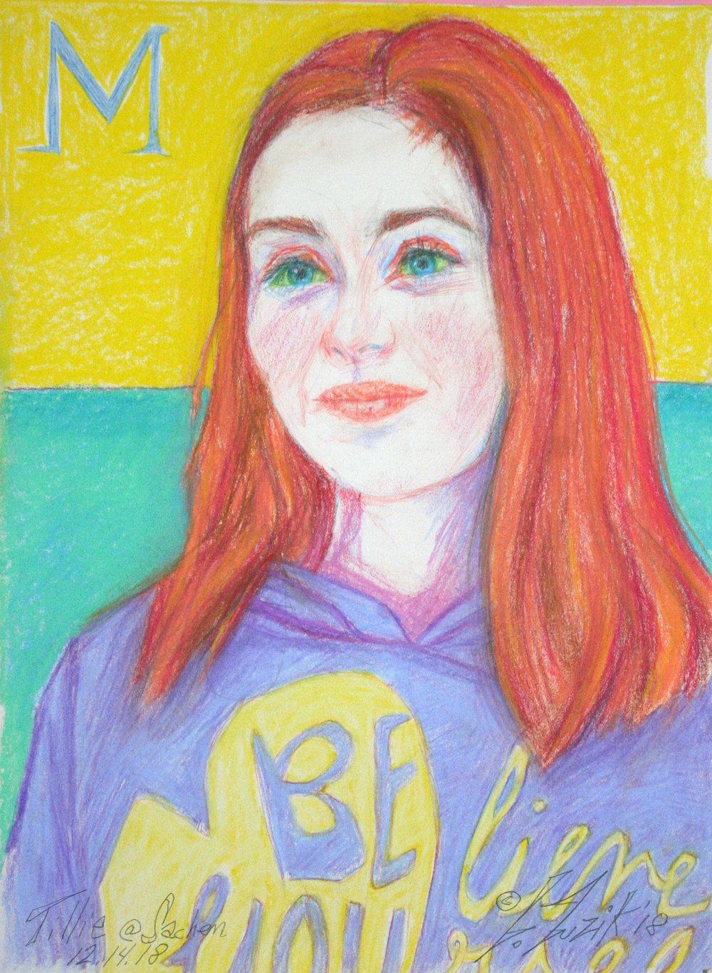 Larry Zuzik did this pastel of Tillie.