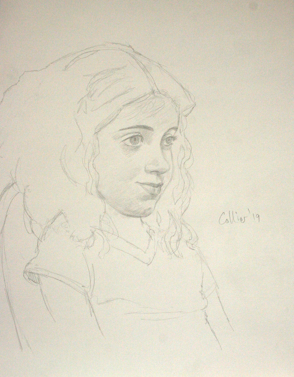 Howard Collier did this drawing of Winnie.