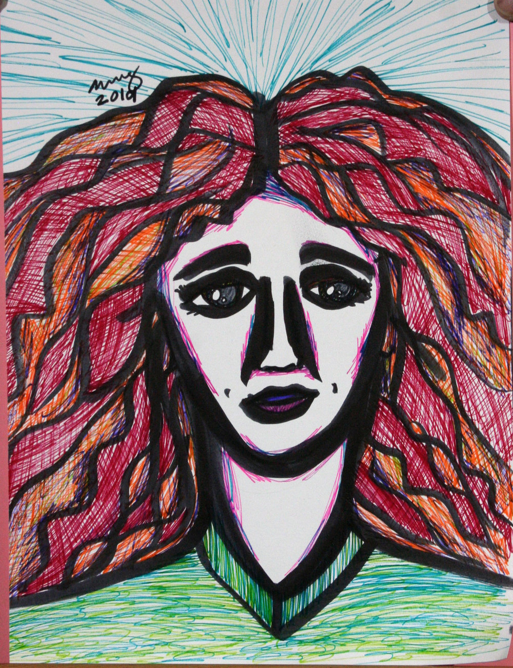 Katie Bee did this drawing of Winnie.