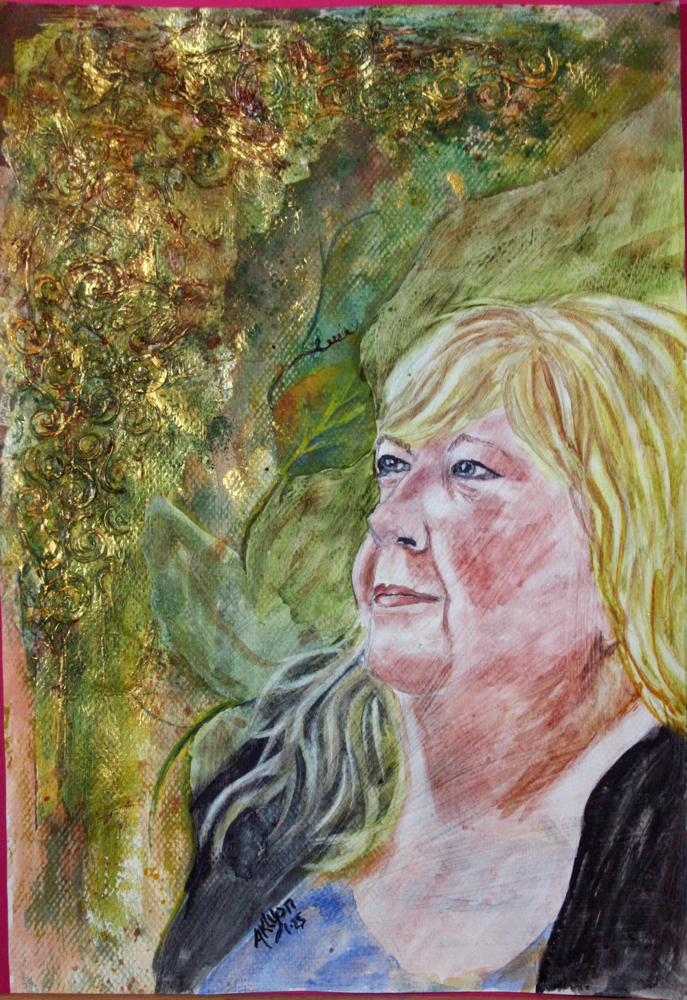 Anne Lyon did this mixed media drawing.