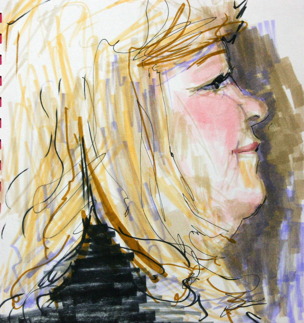 Christa Gulaian did this mixed media drawing.