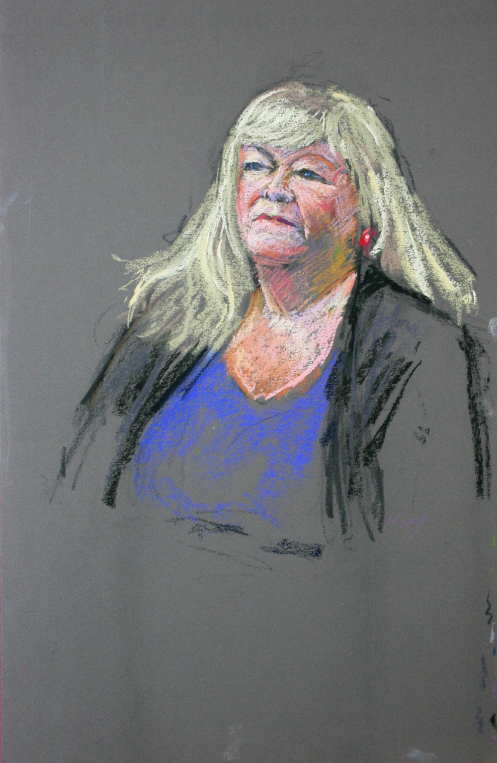 David King did this pastel drawing.