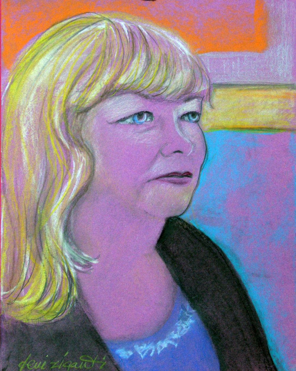 Deni Ziganti did this pastel drawing.
