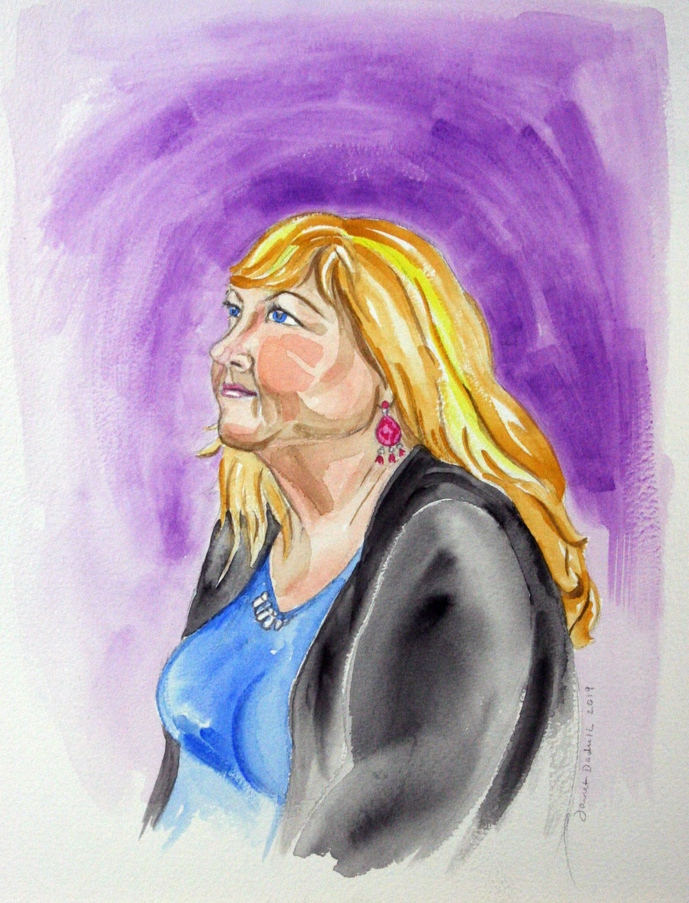 Janet Dodrill did this watercolor.