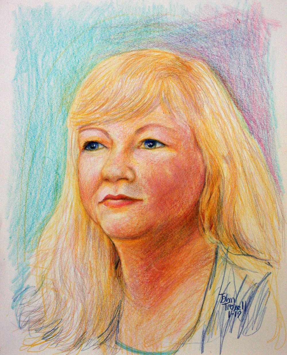 John Troxell did this colored pencil drawing.