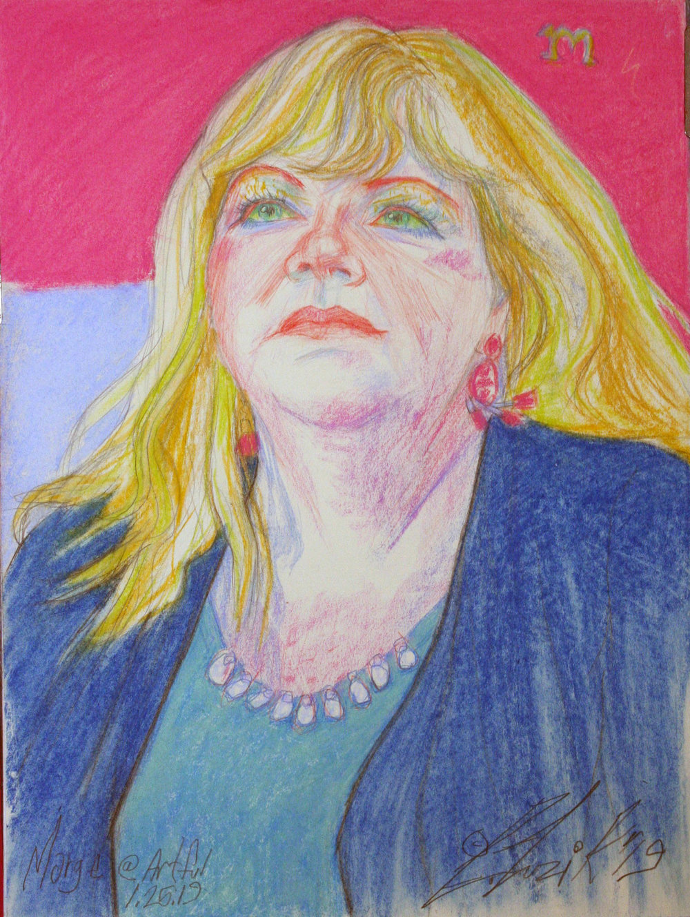 Larry Zuzik did this pastel drawing.