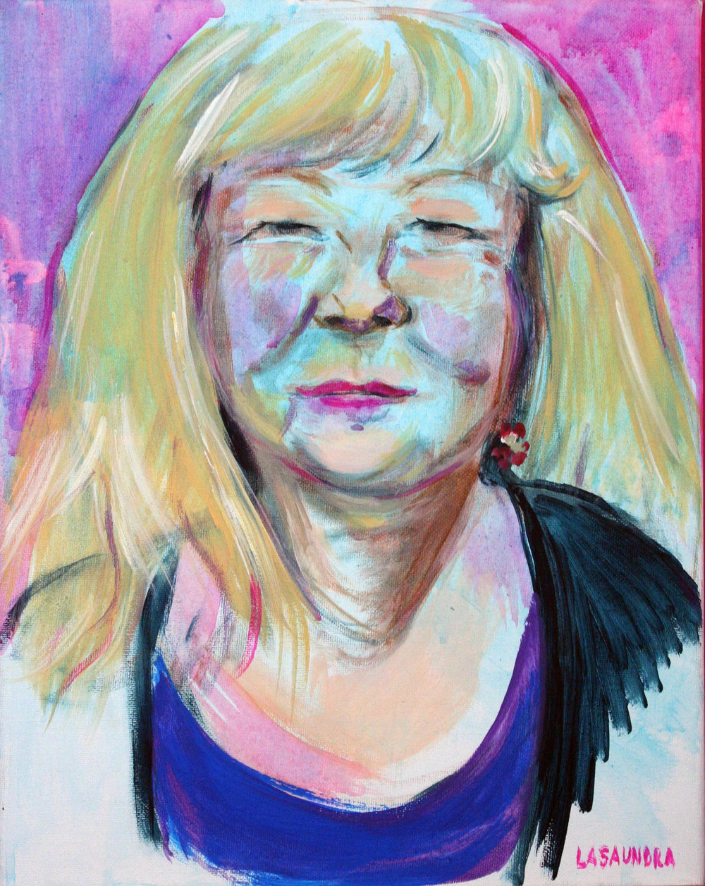 Lasaundra Robinson did this acrylic painting.