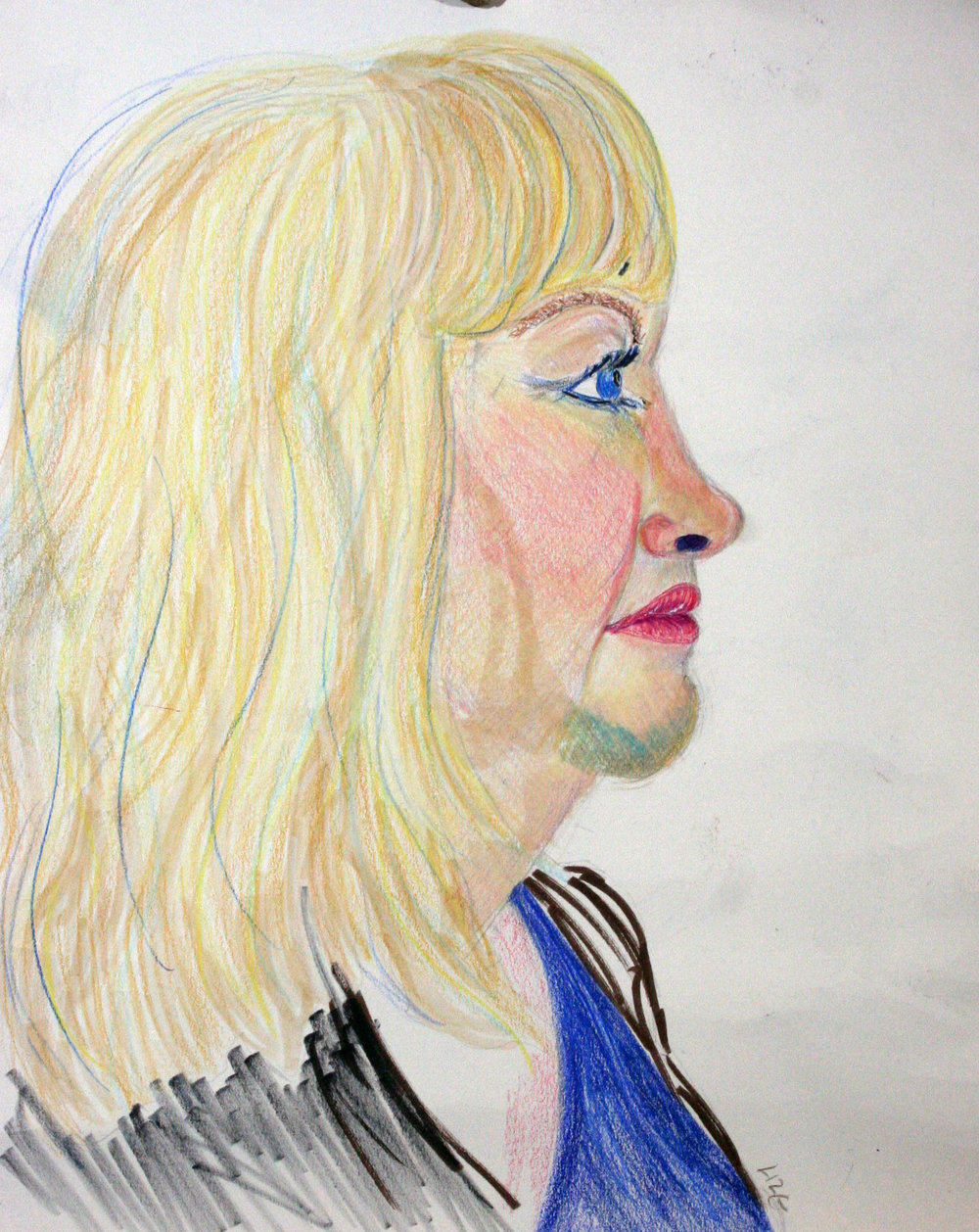 Liz Gulaian did this mixed media drawing.