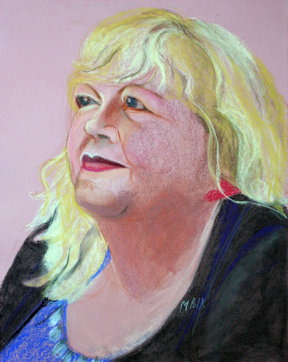 Maria Polk did this pastel drawing.