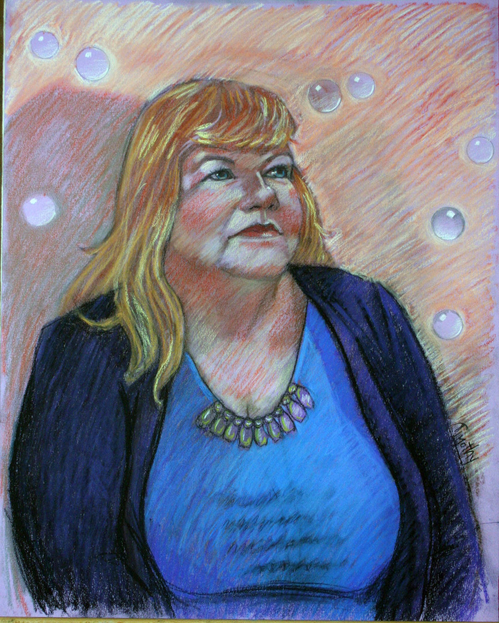 Timothy Herron did this pastel drawing.