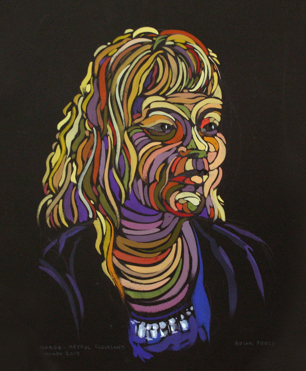 Brian Pierce did this colored pencil drawing .