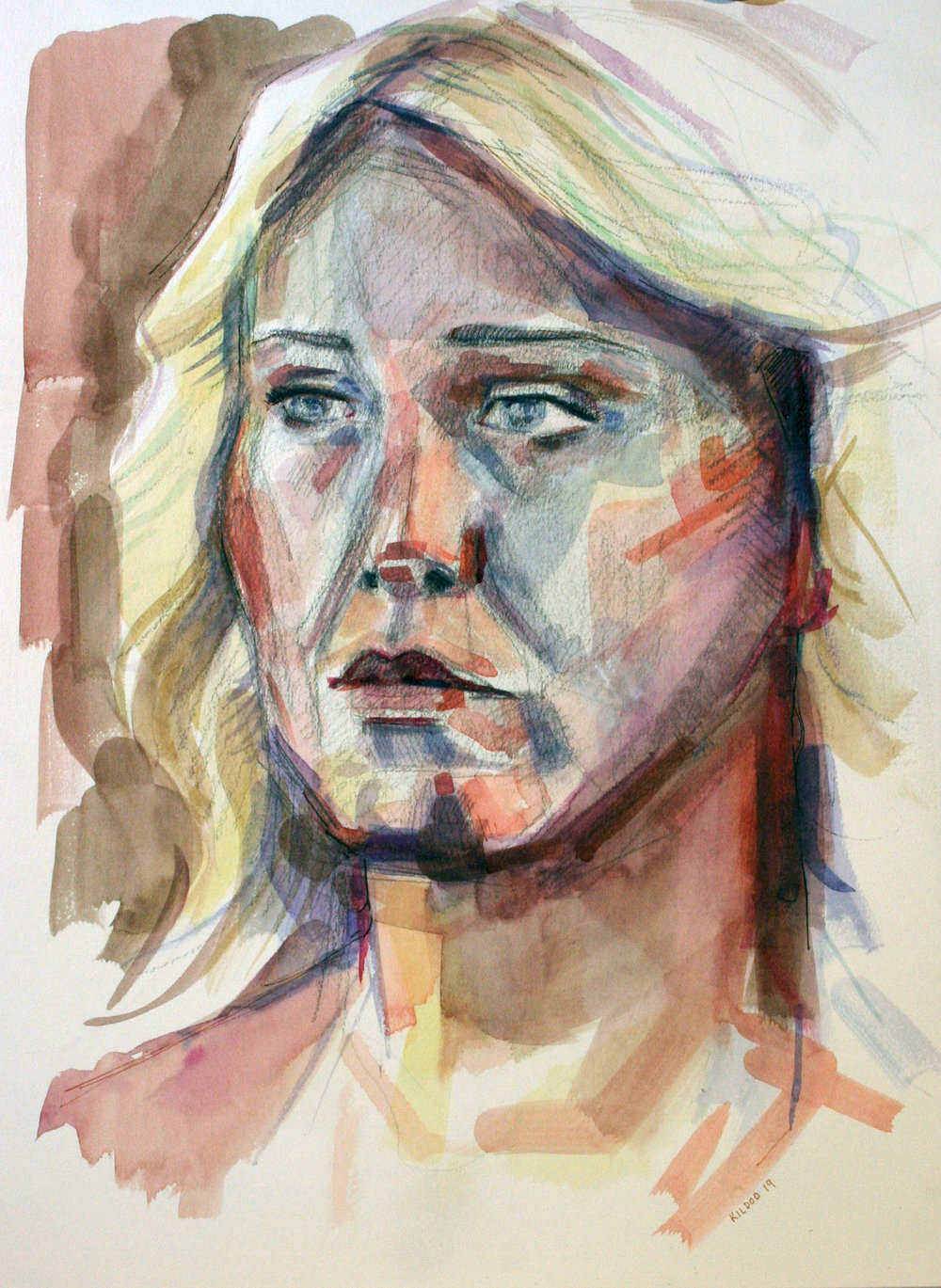 Grace Kildoo McConnell did this watercolor.