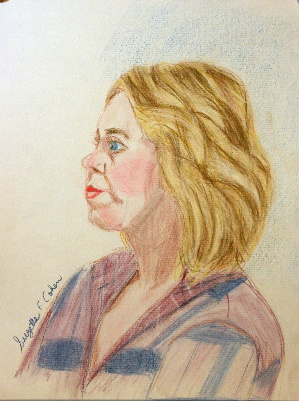 Suzette Cohen did this colored pencil drawing.