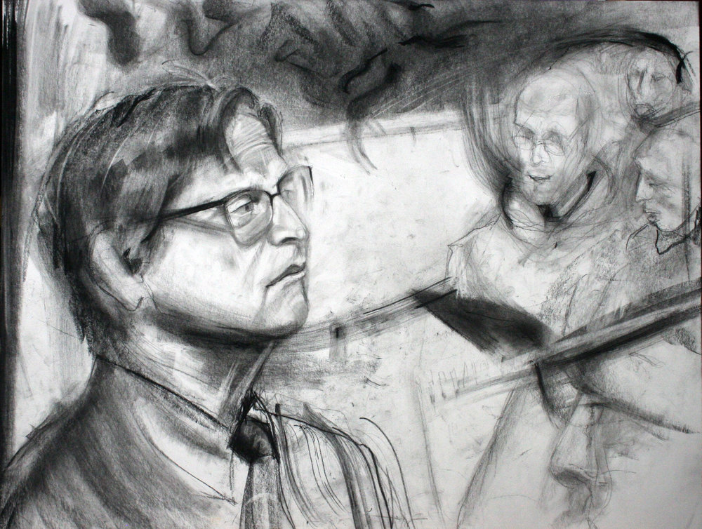 Ed Pepera did this conte drawing.