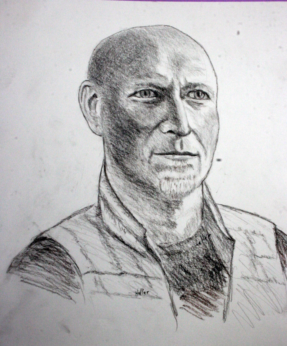 David Heller did this conte drawing.