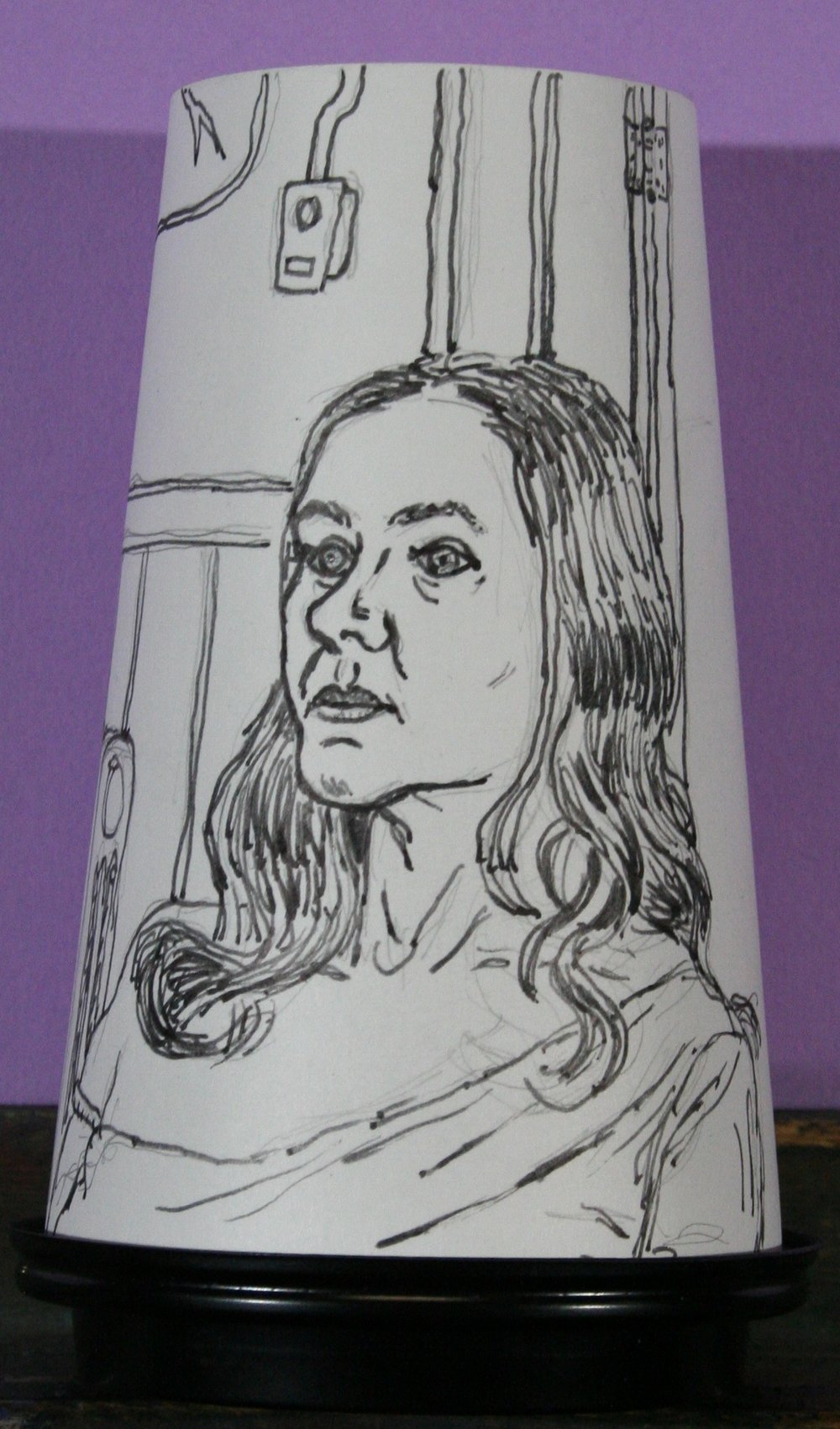 Jack Flotte's did this ink coffee cup portrait.