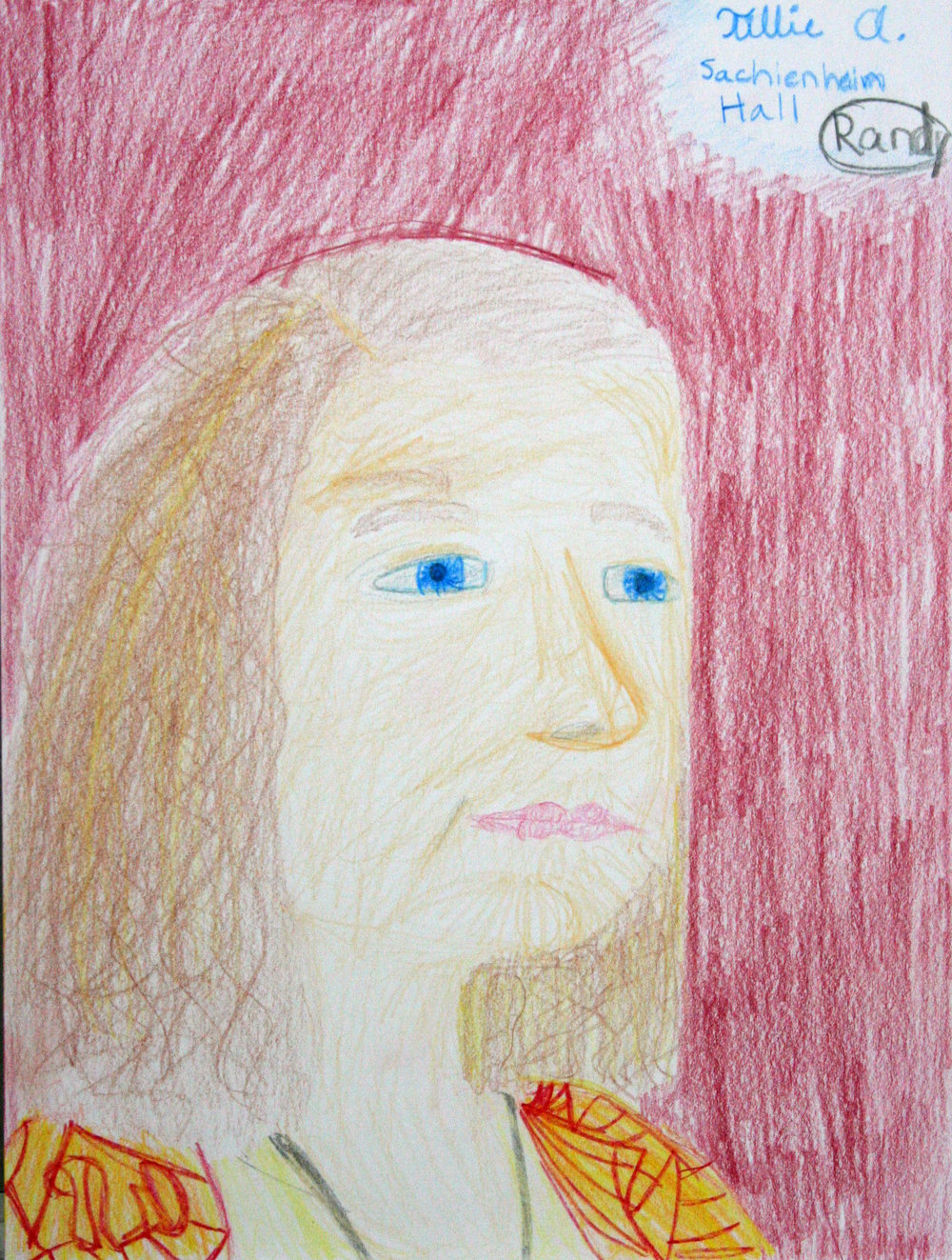 Tillie Averre did this crayon drawing.
