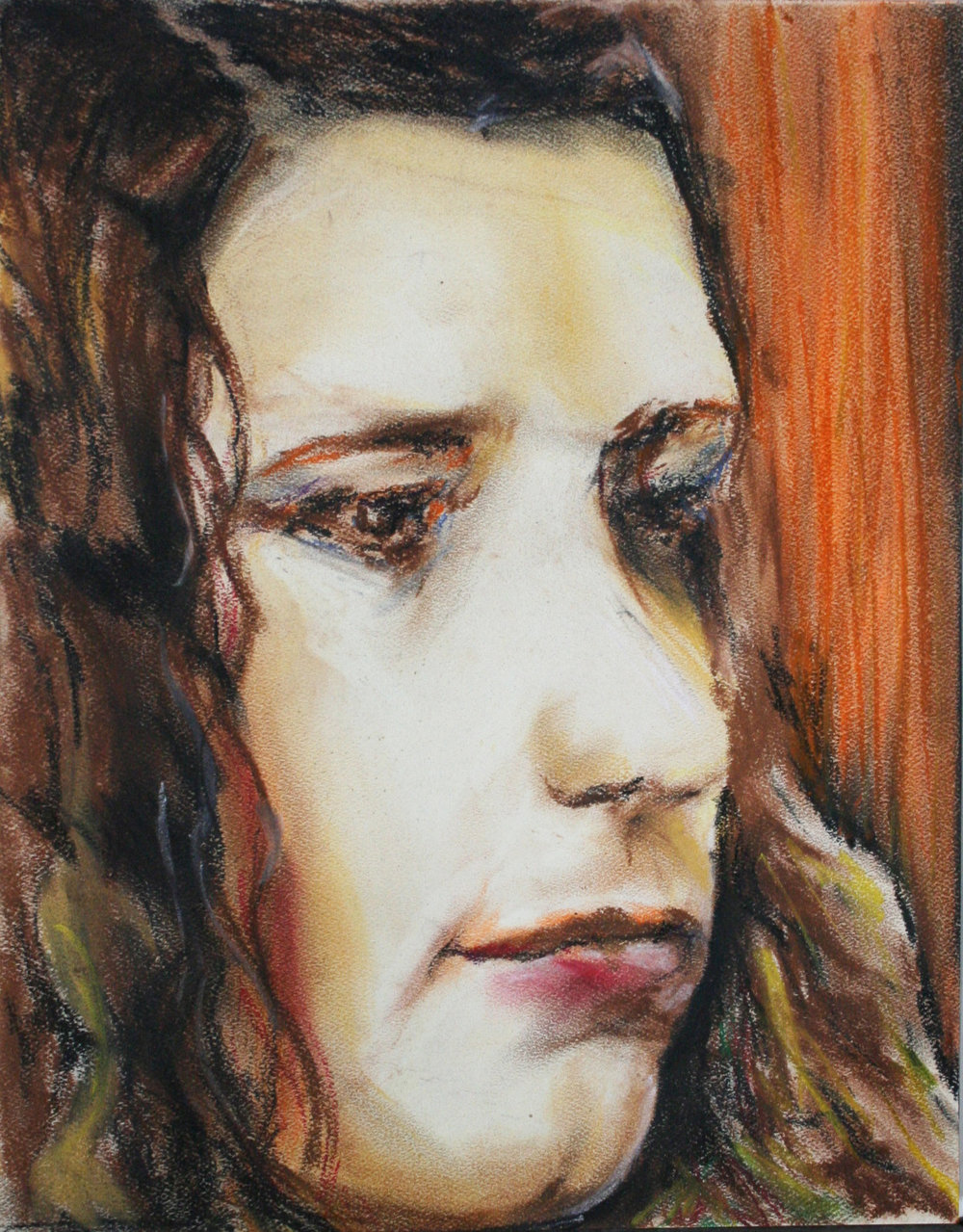 Anthony J. Robinson did this pastel drawing.
