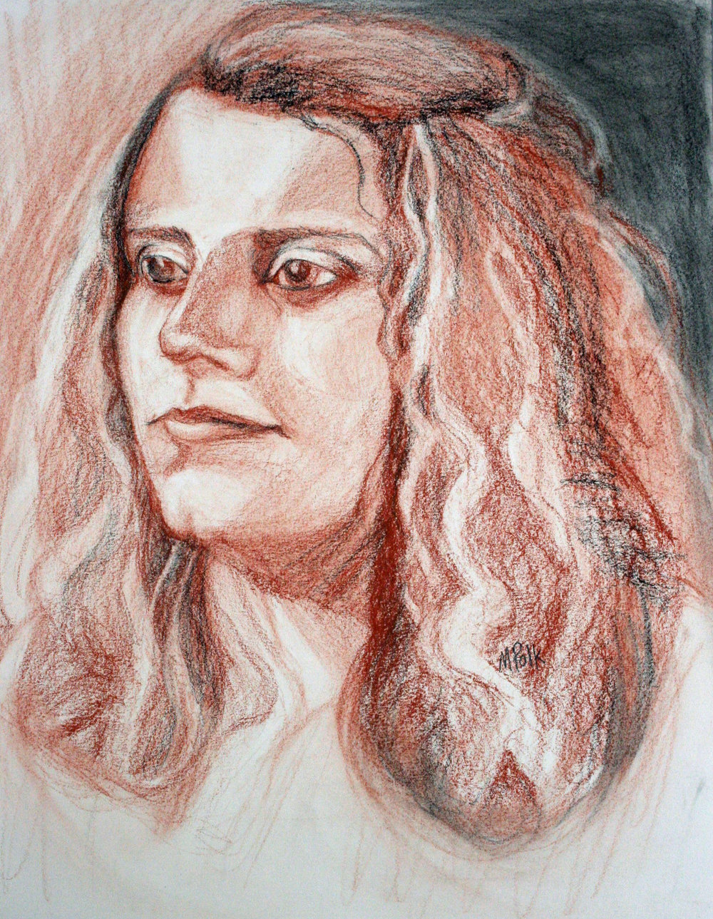 Maria Polk did this conte drawing.