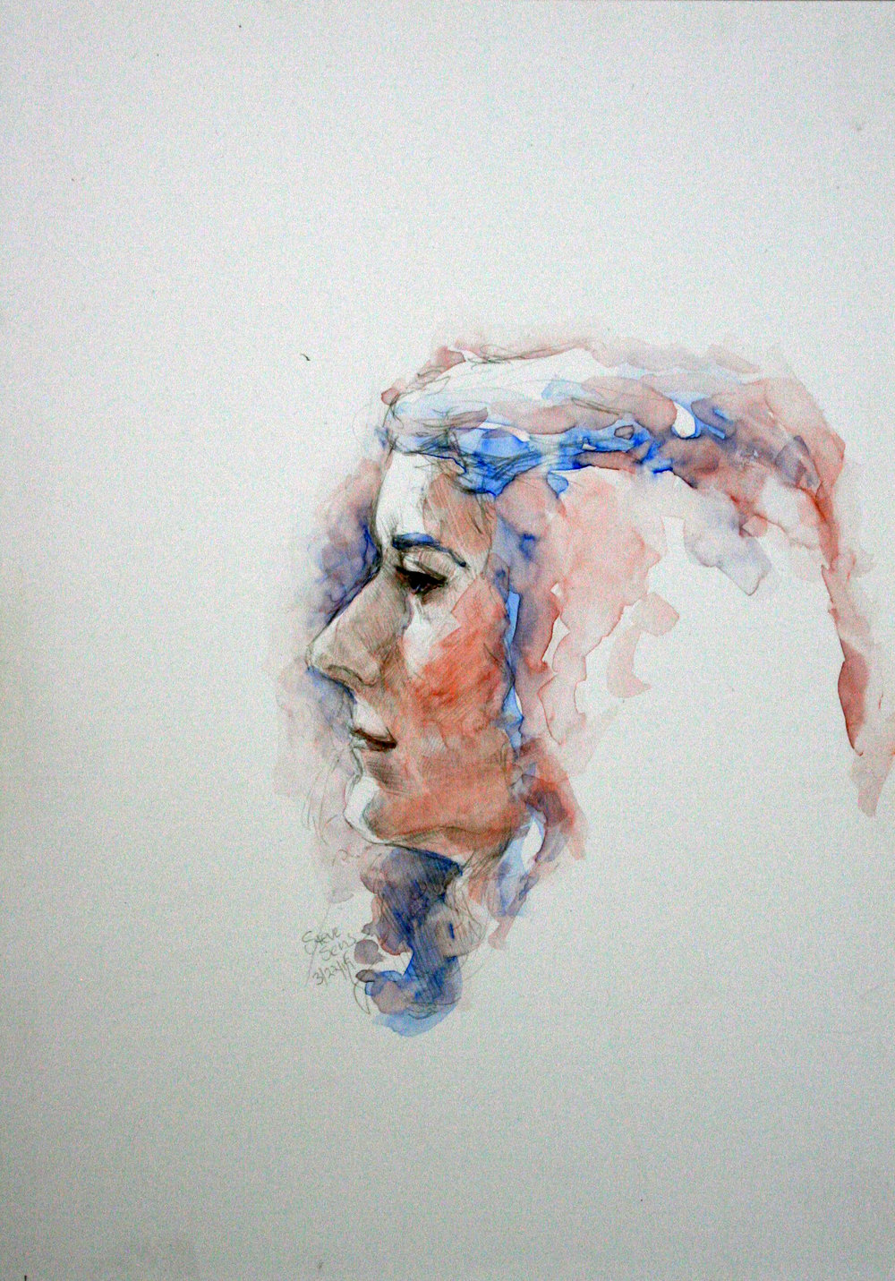 Steve Sens did this watercolor/silverpoint drawing.