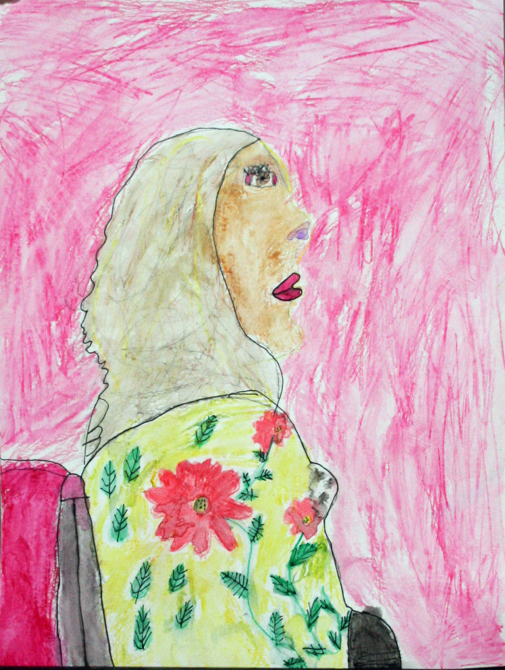 Winnie Averre did this crayon drawing.