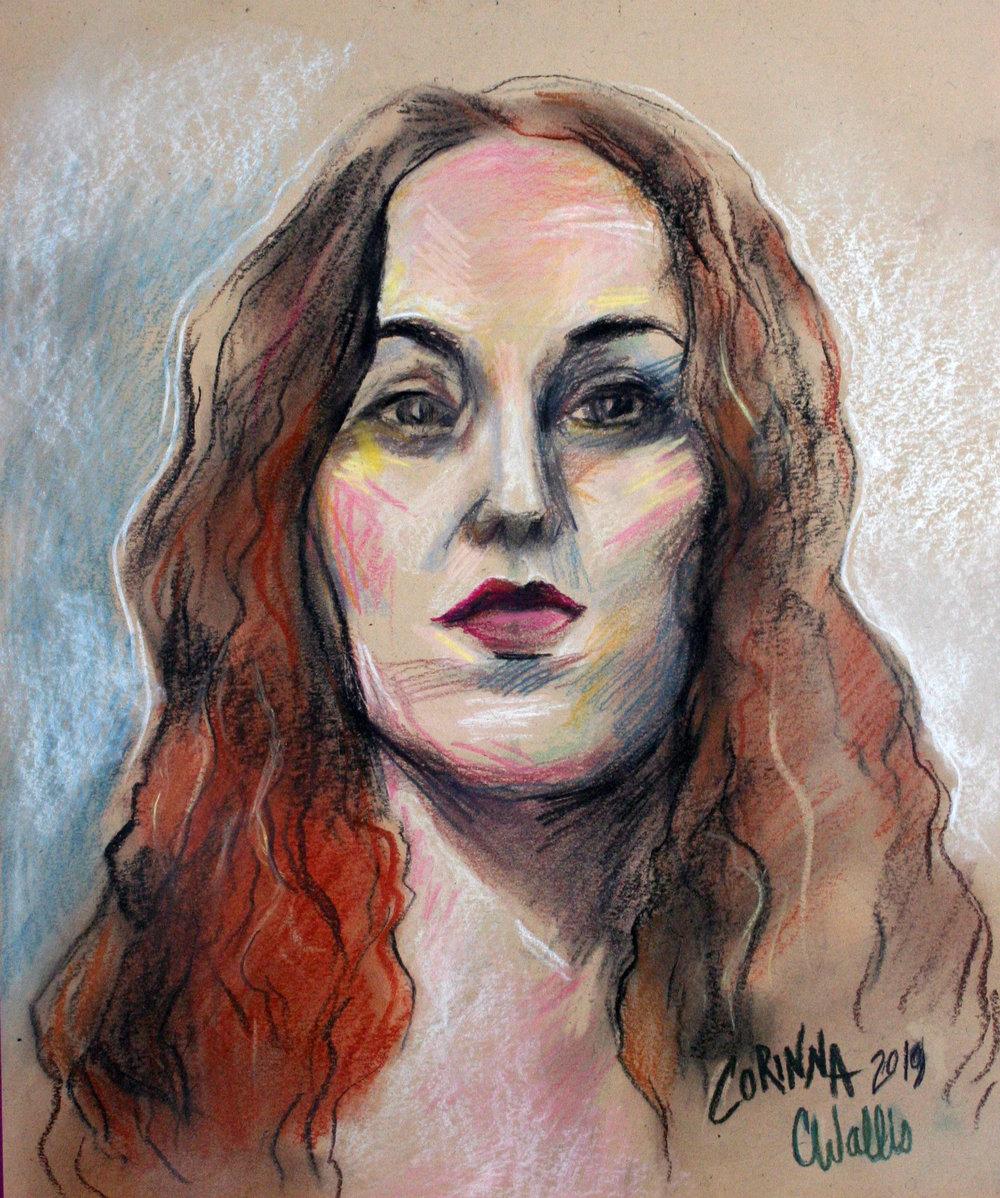 Christine Wallis did this pastel drawing.