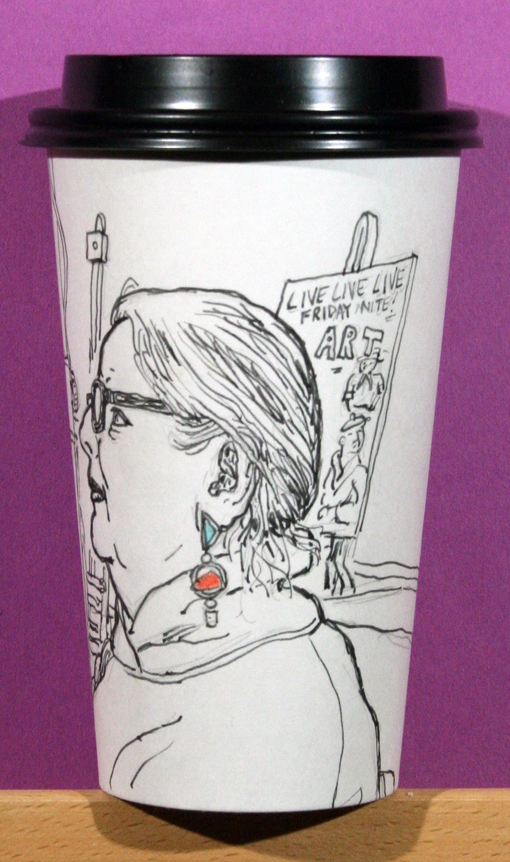 More detail of Jack Flotte's coffee cup.