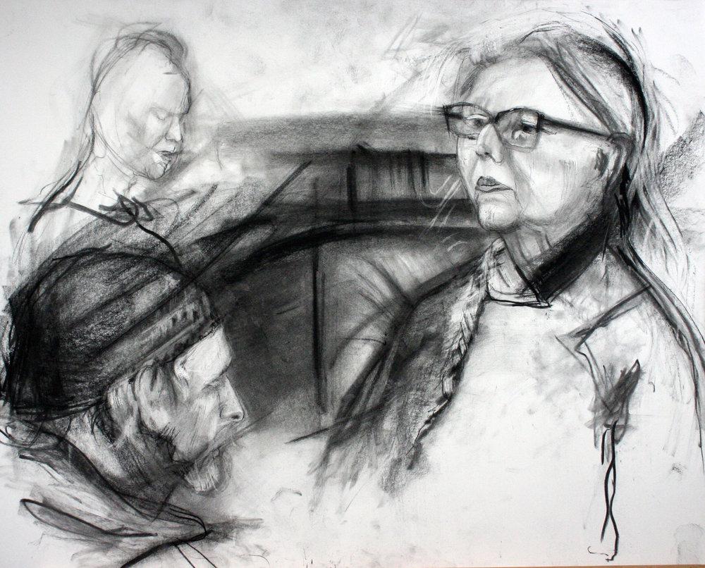 Ed Pepera did this charcoal drawing.