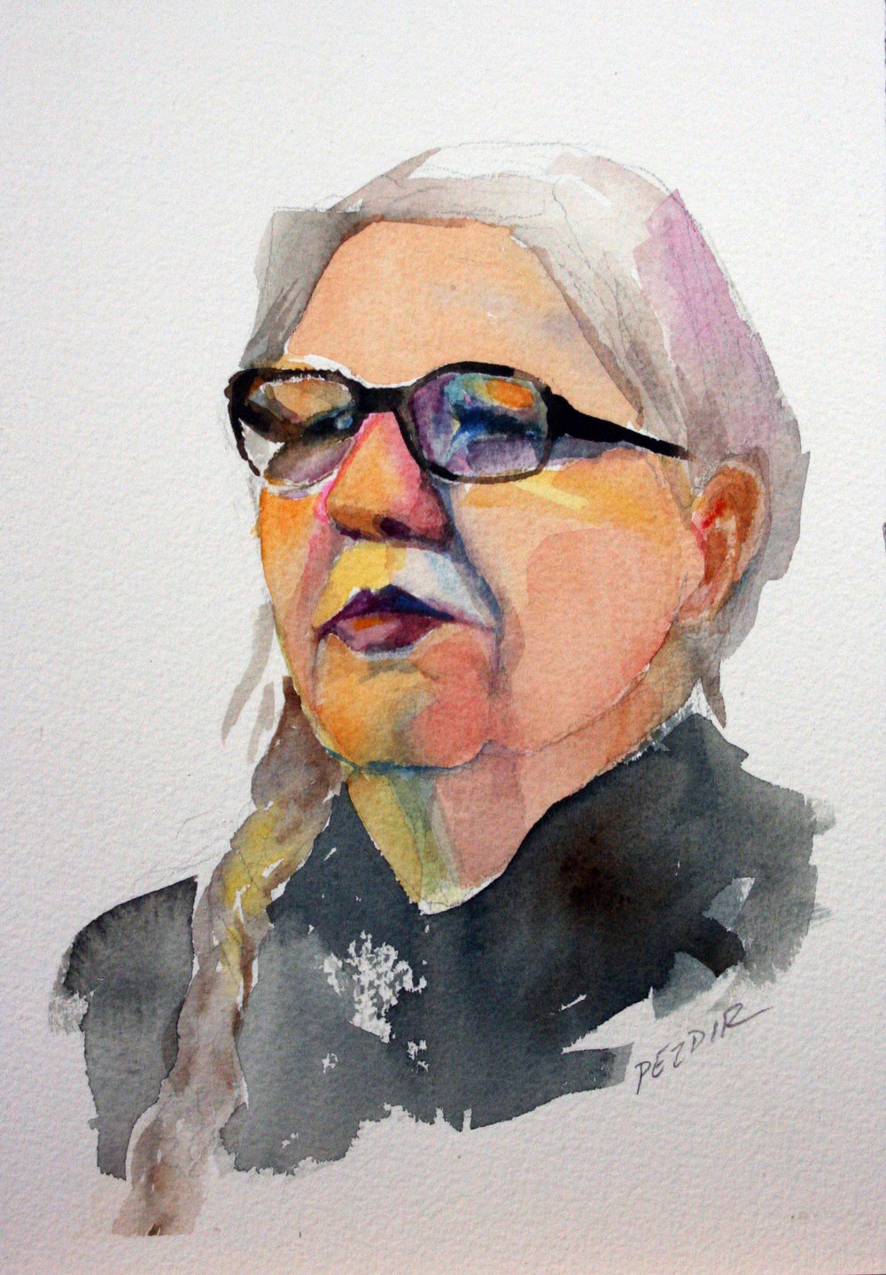 Judy Pezdir did this watercolor.