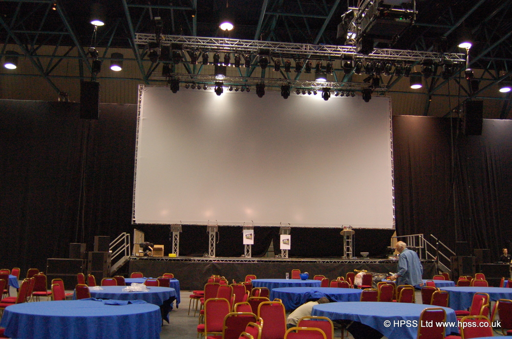 Large indoor stage