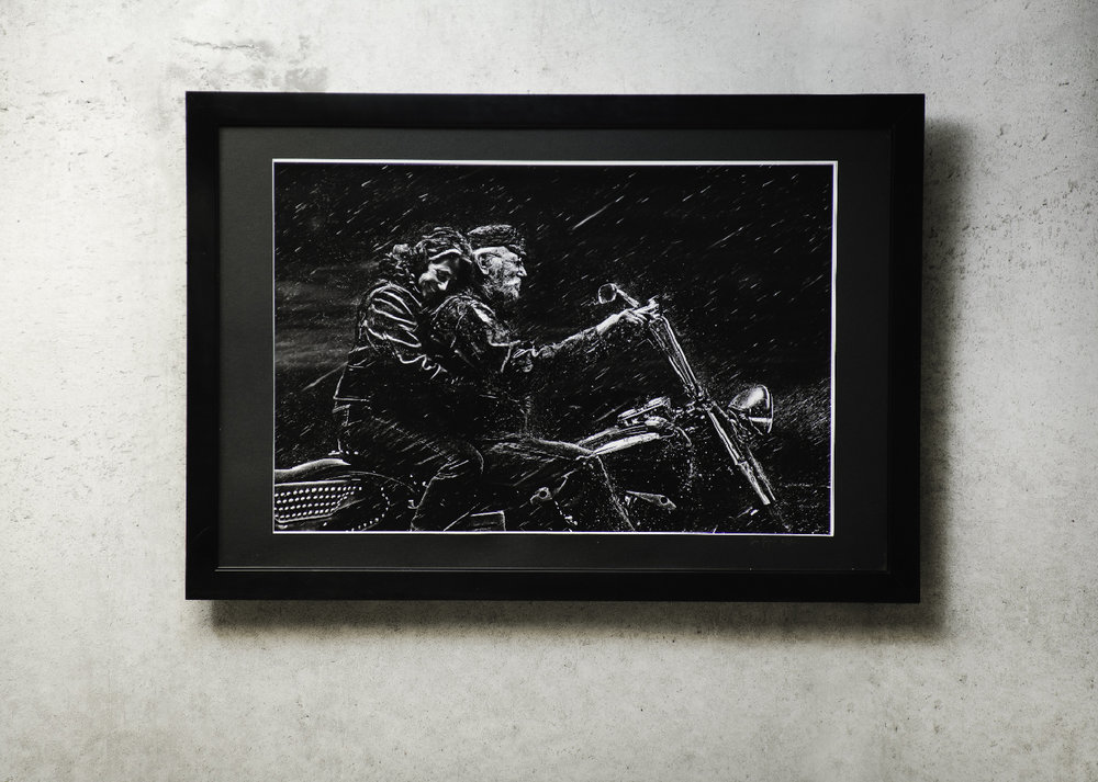 Limited edition 20 x 30 black and white one more mile print