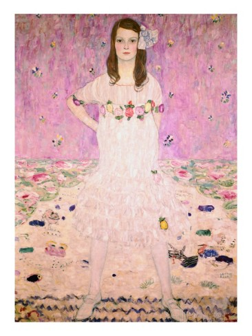 """Girl in White"" by Gustav Klimt"