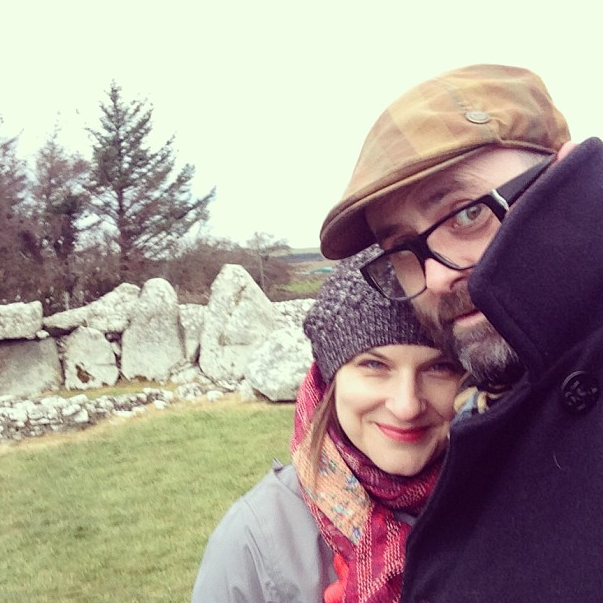 This is me with my husband Jerry on my 40th birthday. We were visiting his family in Ireland and I asked to spend the day among Megalithic-era tombs to give me some perspective on the expanse of time and my place in the universe.
