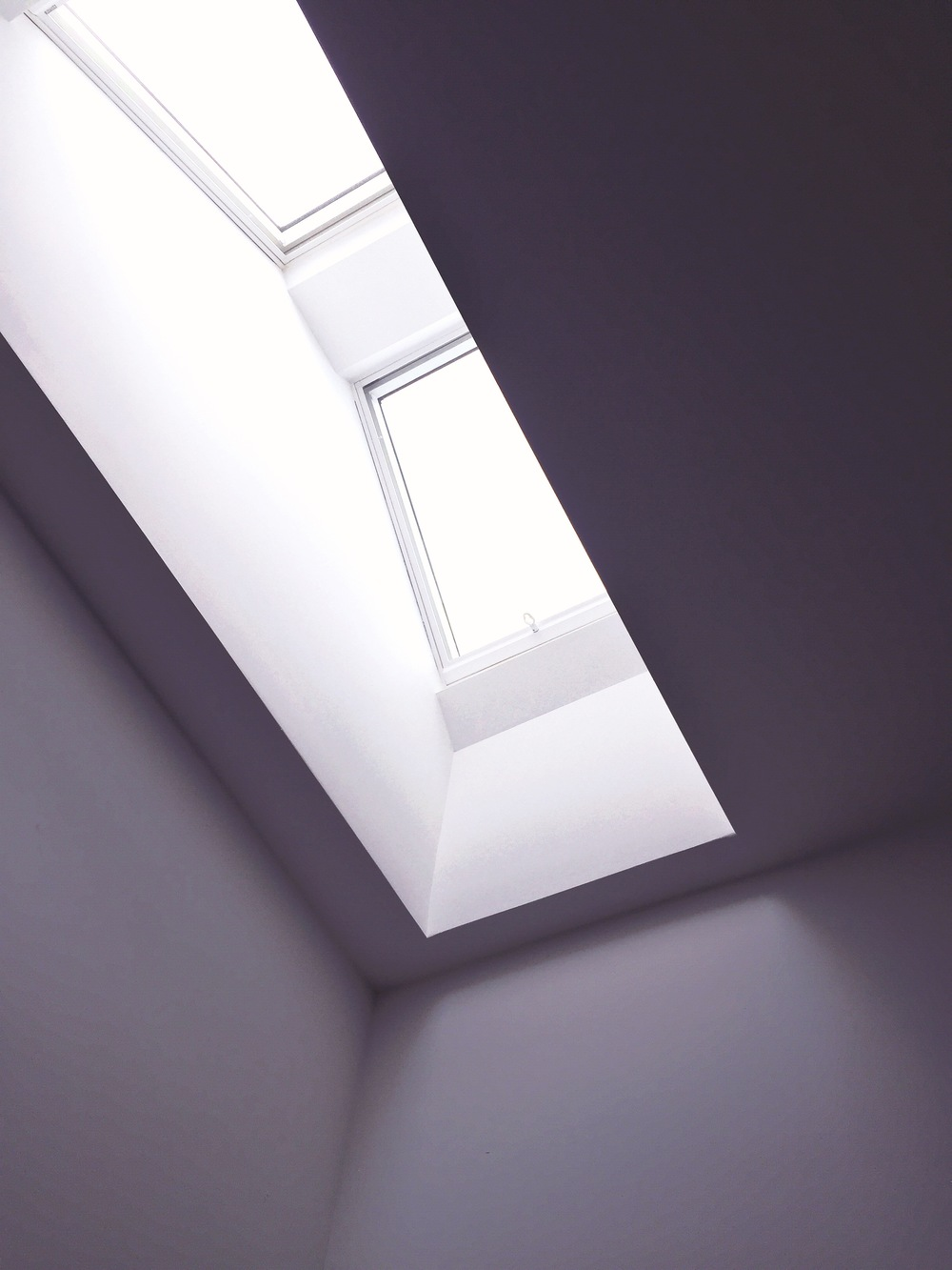 Take a photo of your workspace:  This is the skylight in my office. Very James Turrell, no?