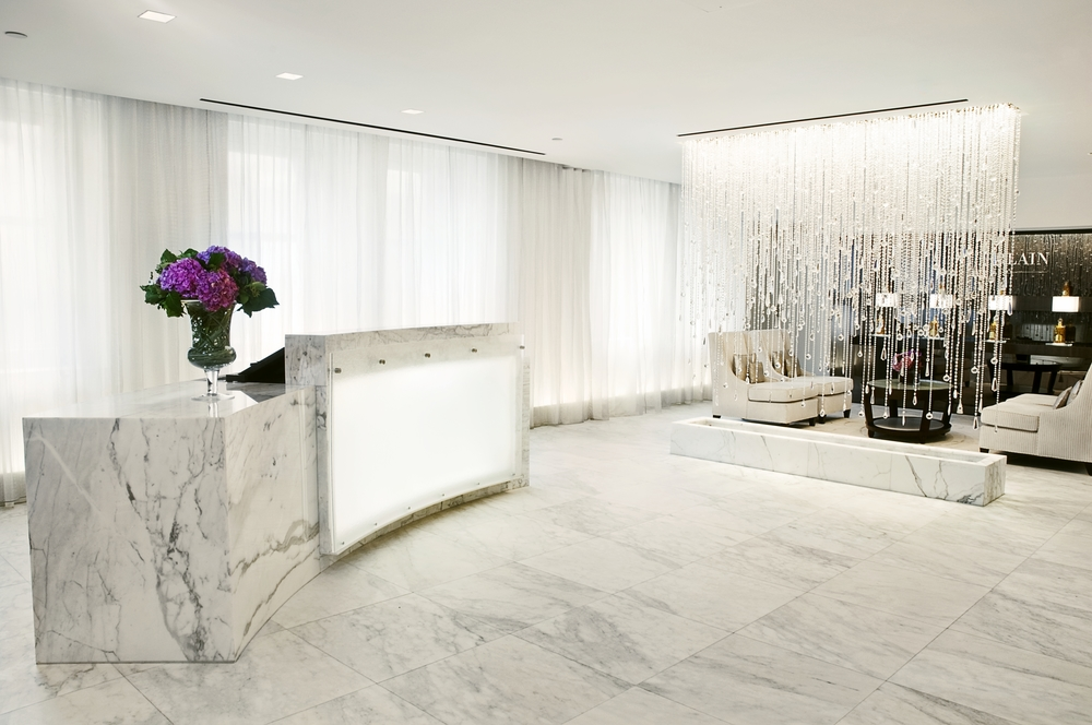 Waldorf=Astoria Guerlain Spa Front desk.JPG
