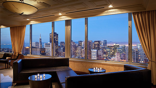 Perfect for groups of up to 100 people, the Vista Room at  Hilton San Francisco Union Square  features sweeping views of downtown San Francisco.