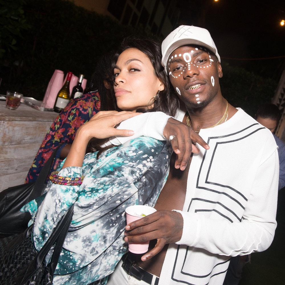 Rosario Dawson & Young Paris
