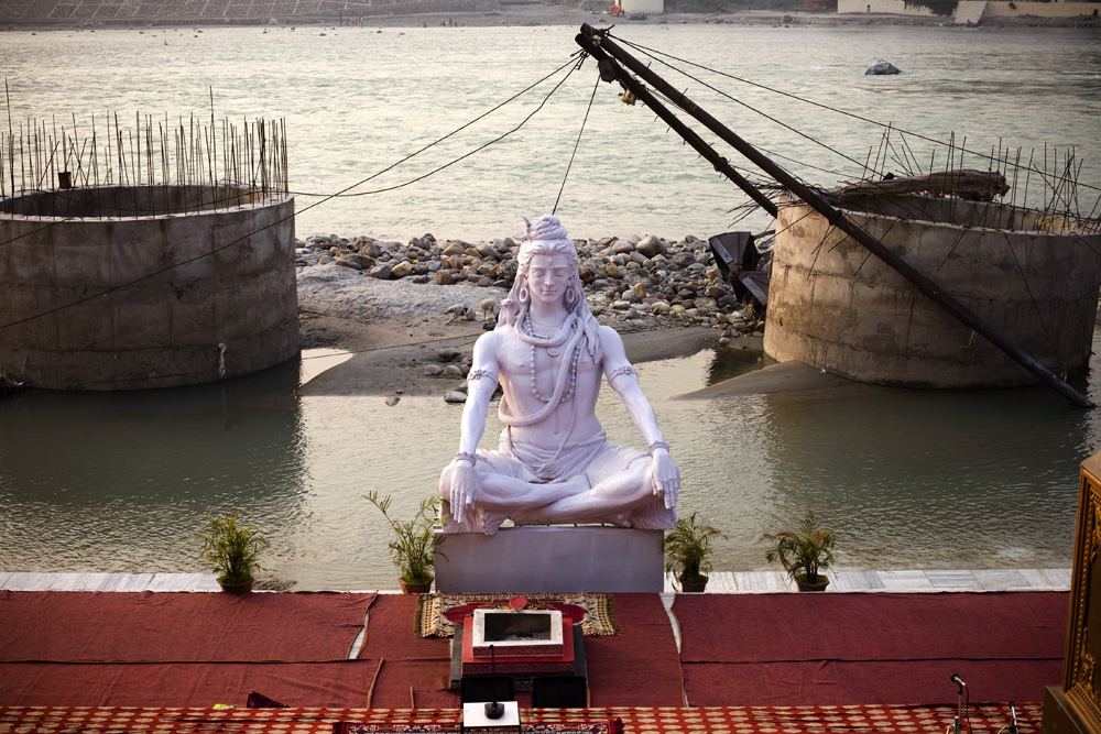 Shiva on the Ganges, Rishikesh, India