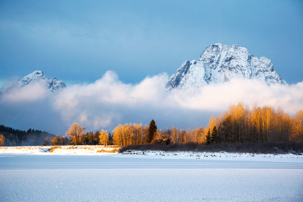 Oxbow Bend & Mount Moran. Grand Teton National Park, Wyoming.