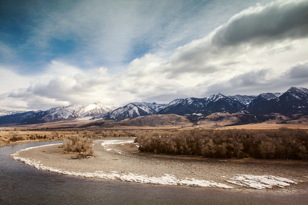 Yellowstone River and the Absaroka Range